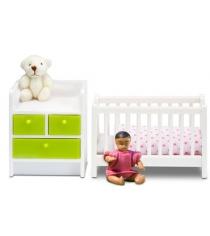 Набор кукольной мебели Lundby Кровать с пеленальным комодом LB_60209900