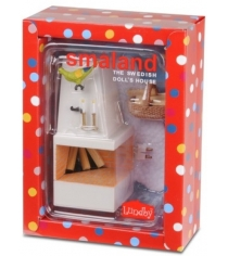 Набор кукольной мебели Lundby Смоланд Камин с декором LB_60305100