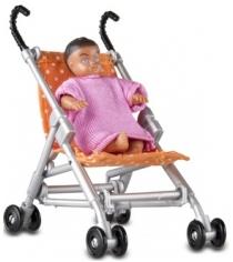 Набор для кукольного домика Lundby Прогулочная коляска и малыш LB_60508500
