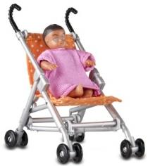 Набор для кукольного домика Lundby Прогулочная коляска и малыш LB_60509500
