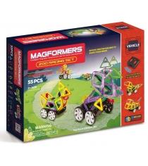 Магнитный конструктор Magformers Vehicle 63142 Гонки в зоопарке...