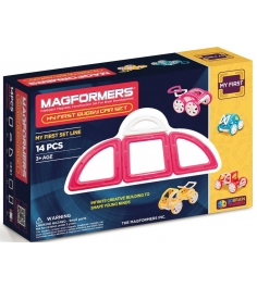 Магнитный конструктор Magformers My First Buggy розовый 63147/702008