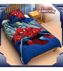 Одеяло панно 1,5 сп Человек паук 140*205 см 1230426