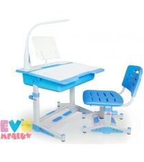 Детская парта и стульчик Mealux Evo 02 New c подставкой и лампой