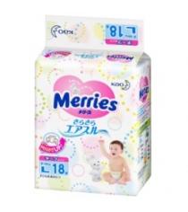 Подгузники для детей размер Merries L 9-14 кг 18 шт
