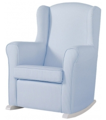 Кресло качалка Micuna Wing nanny white/blue stripes