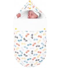 Конверт для новорожденного Mikkimama Руль и колесо зимний