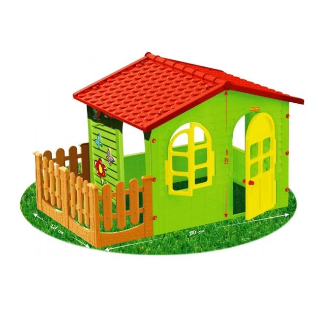 Детский домик Mochtoys с забором 10498