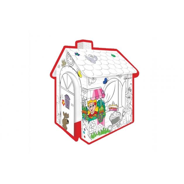 Игровой домик раскраска Mochtoys 10721
