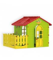 Детский домик Mochtoys с забором 10839