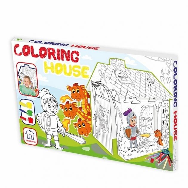 Игровой домик раскраска Mochtoys Рыцарь 11123