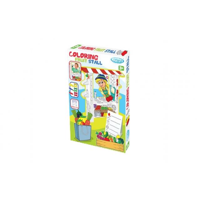 Игровой домик раскраска Mochtoys Супермаркет 11219