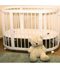 Детская круглая кроватка Можга Паолина С 321 слоновая кость