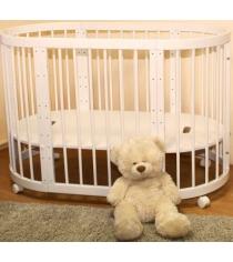 Детская круглая кроватка Можга Паолина С 321 ваниль