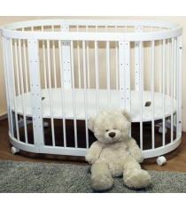 Детская круглая кроватка Можга Паолина С 321 белый
