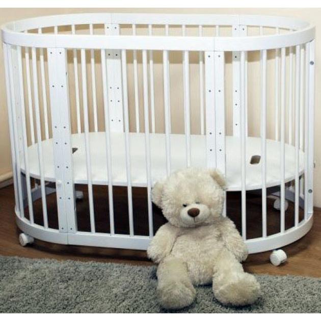 Круглая кроватка Можга Паолина С 321 белый