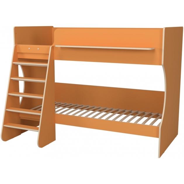 Двухъярусная кровать Р438 Капризун 3 оранжевый