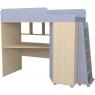 Кровать чердак с рабочей зоной Р440 Капризун 5 лен голубой...