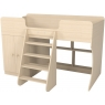 Кровать чердак Р441 Капризун 2 дуб млечный со шкафом...