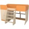 Кровать чердак Р441 Капризун 2 оранжевый со шкафом...