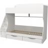 Кровать двухъярусная с ящиками Капризун 6 белая...