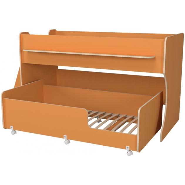 Двухъярусная кровать Р444 Капризун 7 оранжевый