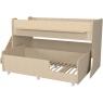 Двухъярусная кровать Р444-2 Капризун 7 с лестницей с ящиками дуб млечный...
