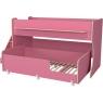 Двухъярусная кровать Р444-2 Капризун 7 с лестницей с ящиками розовый...