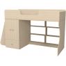 Кровать чердак Р445 Капризун 1 со шкафом дуб млечный...