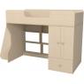 Кровать чердак Капризун 2 со шкафом дуб млечный...