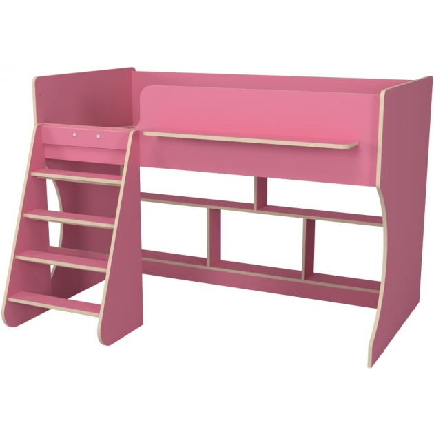 Кровать чердак Р436 Капризун 2 розовый