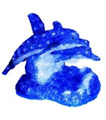 Акриловая фигура Синие дельфины 65х48х48 см,136 светодиодов, понижающий трансфор...