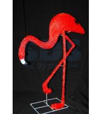 Акриловая фигура Фламинго смотрит вниз95х80см, понижающий трансформатор в компле...