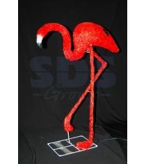 Акриловая фигура Фламинго 95см, 464 светодиода, понижающий трансформатор в компл...