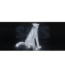 Акриловая фигура Леопард сидит 80см, 1000 светодиодов, понижающий трансформатор ...