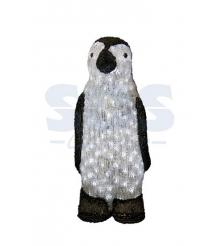 Акриловая фигура Пингвин 40 см, 60 светодиодов, понижающий трансформатор в компл...
