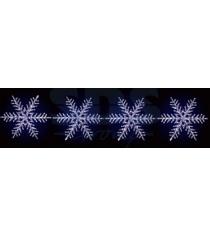Акриловая фигура на каракасе 4 снежинки O 80 см, 458 светодиодов, понижающий тра...