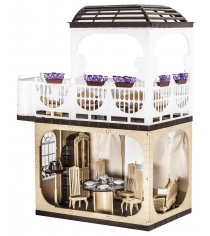 Кукольный домик Огонек коллекция без мебели С-1293