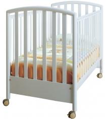 Кроватка на колесиках Pali Ciak белый