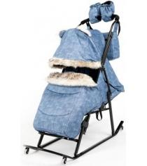 Детские санки Papajoy Kristy Luxe Premium Soft Plus