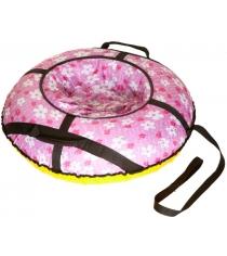 Тюбинг Papajoy SnowDream Glamour Maxi 100 розовый 58773
