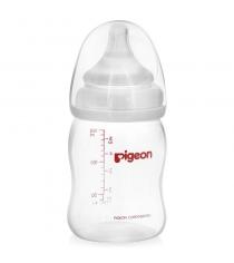 Бутылочка для кормления Pigeon Перистальтик Плюс 160мл PP...