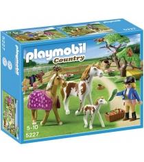 Playmobil серия конный клуб Загон для лошадей 5227pm...