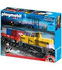 Playmobil Порт Грузовой поезд с контейнерами 5258pm