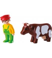 Игровой набор Playmobil Фермер с коровой 6972pm