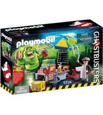 Охотники за привидениями Playmobil Лизун и торговая тележка с хот-догами 9222pm...
