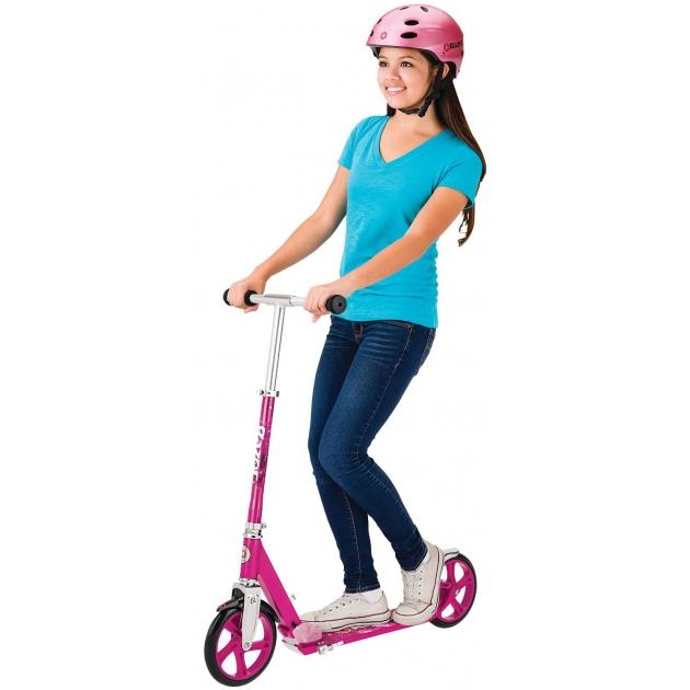 Двухколесный детский самокат Razor A5 lux розовый 070602