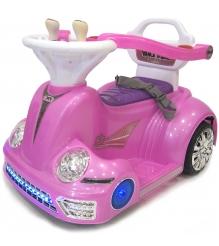 Электромобиль ходунки розовый
