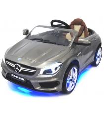 Электромобиль Mercedes Benz серебристый
