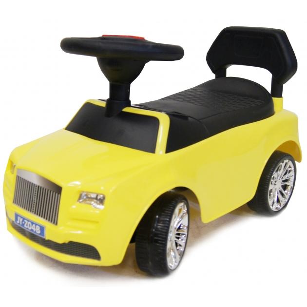 Каталка толокар Rolls Royce желтый